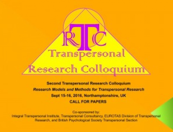 Transpersonal Research Colloquium (TRC) 2016 in UK